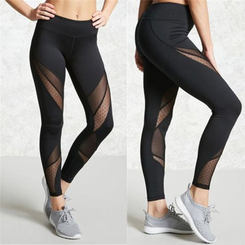 Sportswear Mesh Patchwork Fitness Pants