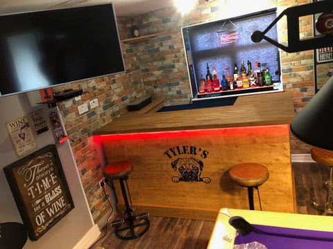 solid oak counter bar