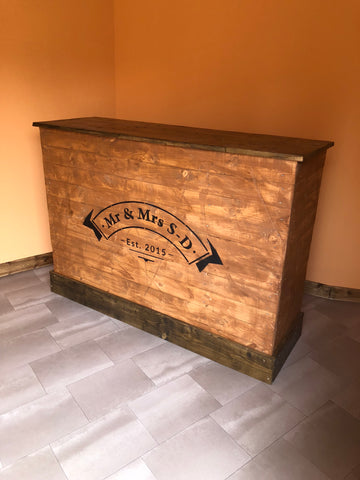 Wooden home bar