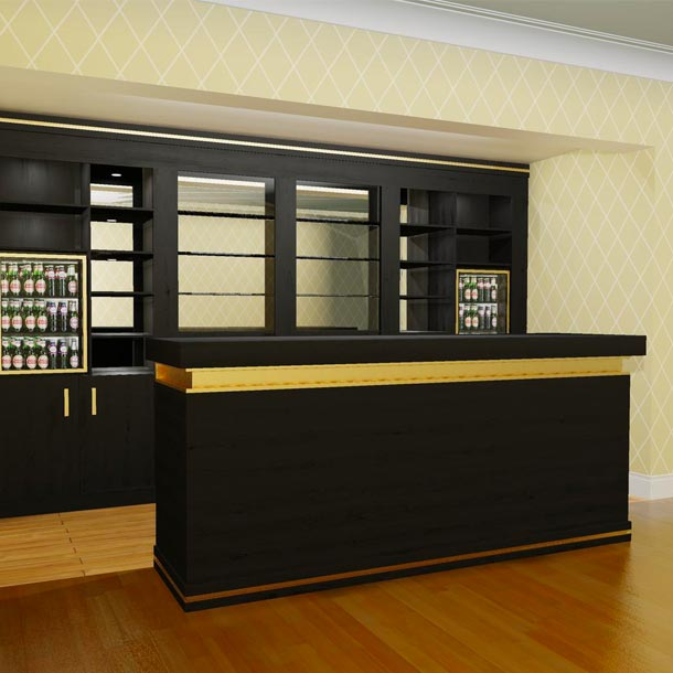 Luxury Black and Gold Bar