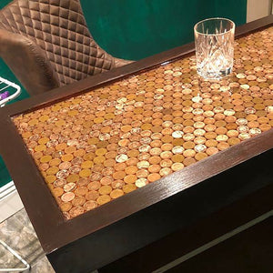 Coin Cast Counter Top Traditional Wooden Home Bar