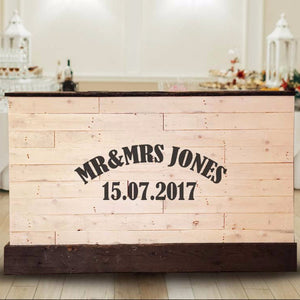 Wedding Bar (includes customised own names and date)
