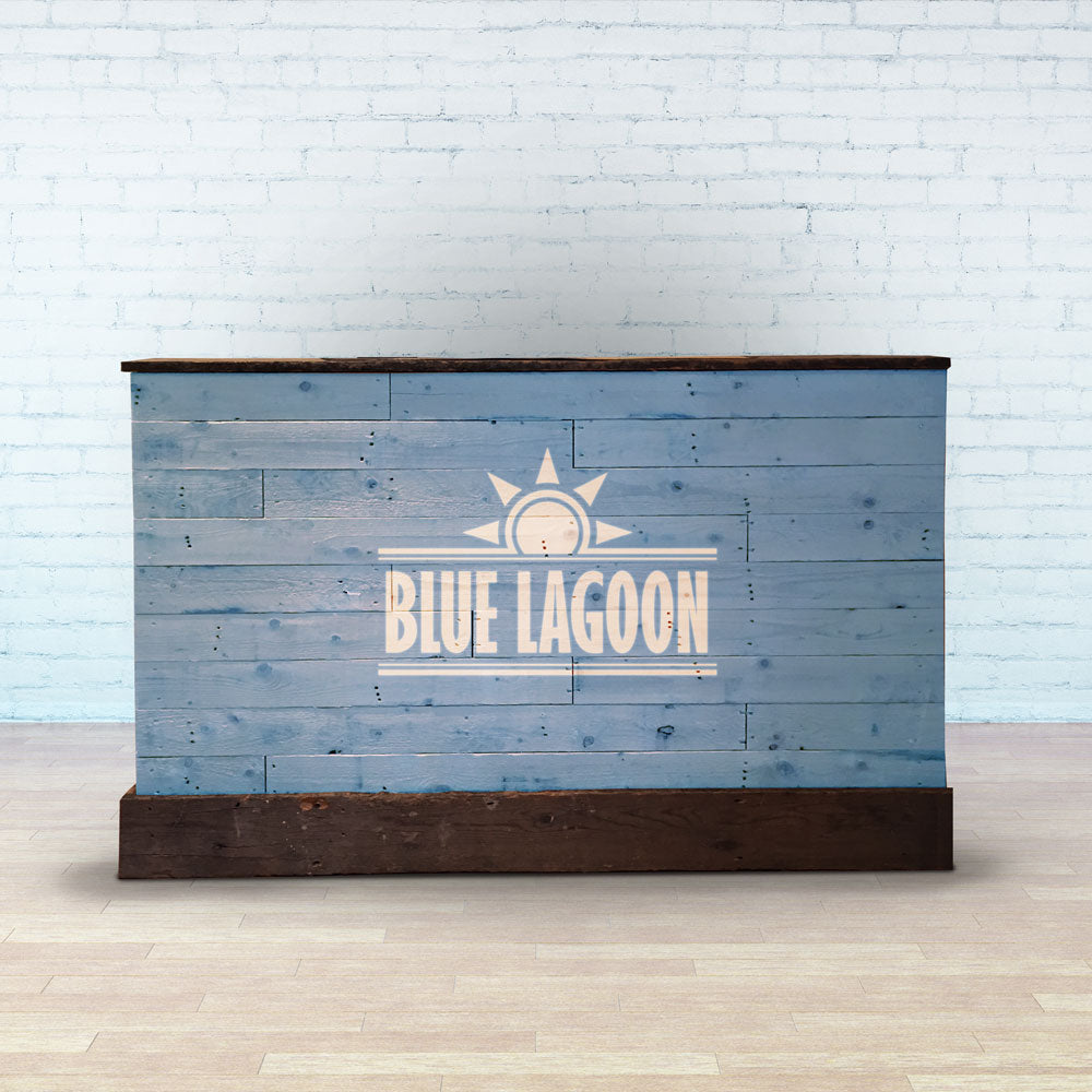 Blue Lagoon Wooden Home Bar