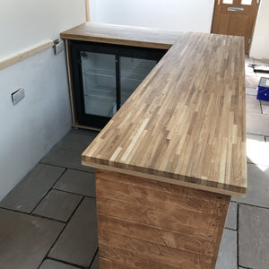 Large L Shape Oak With Fridge Space