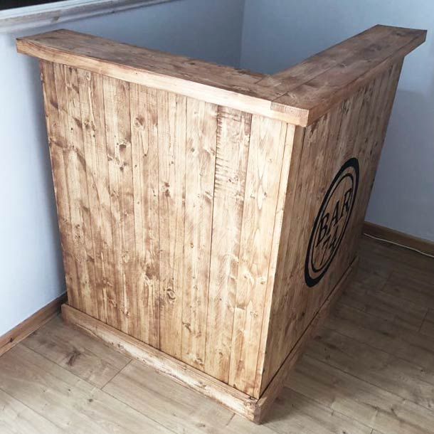 Wooden Corner Home Bar