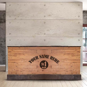 L-Shape Driftwood Rustic Wooden Home Bar