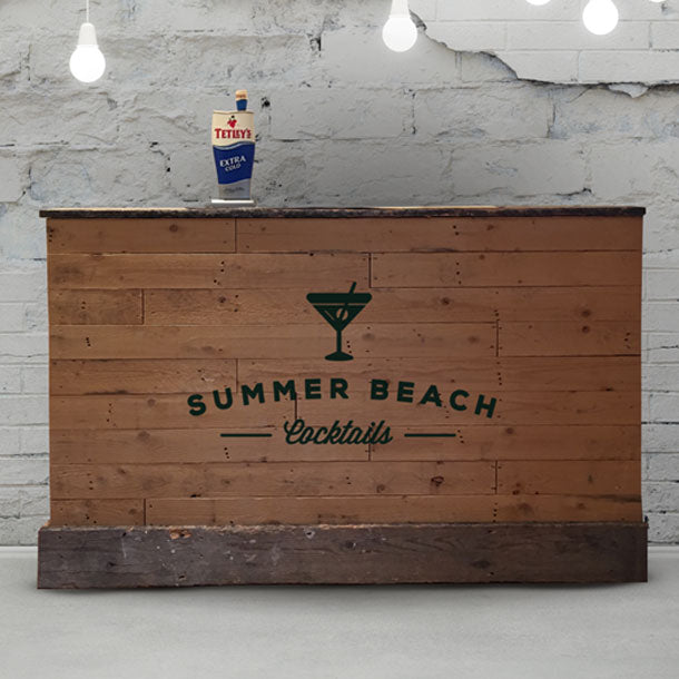 Driftwood Rustic Wooden Home Bar