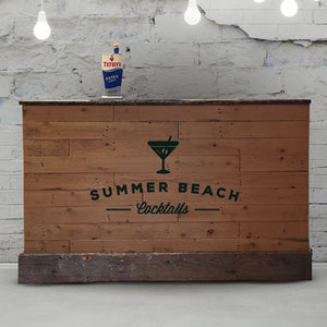 Wooden Bar - Hire