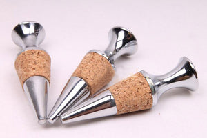 High Quality Metal & Cork Wine Bottle Stopper