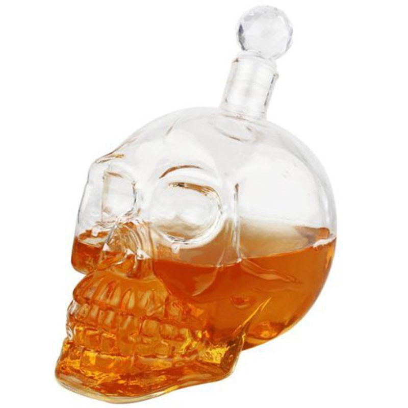 New 350ml Crystal Skull Head Vodka Whiskey Decanter
