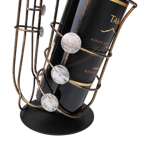 Metal Saxophone Shaped Wine Rack