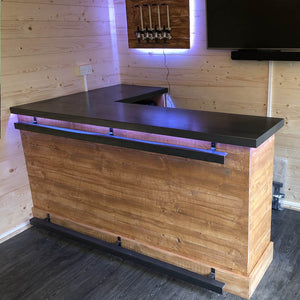 Medium Steel Top Bar With Fridge Space