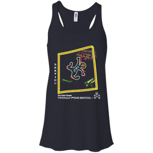 Skate Boarding -  Canvas Flowy Racerback Tank - Totally F*ing Brutal