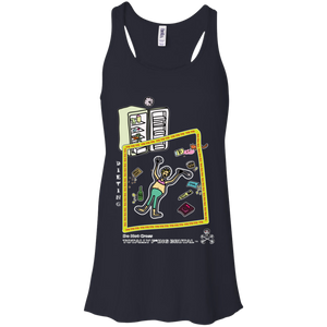 Dieting - Canvas Flowy Racerback Tank - Totally F*ing Brutal