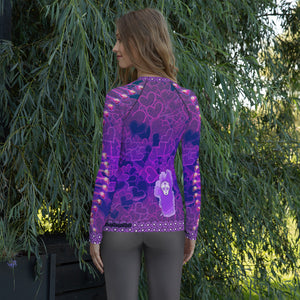 DNA Sugar Skull Women's Rash Guard - Totally F*ing Brutal