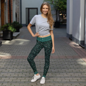 Green Marble Leggings - Totally F*ing Brutal
