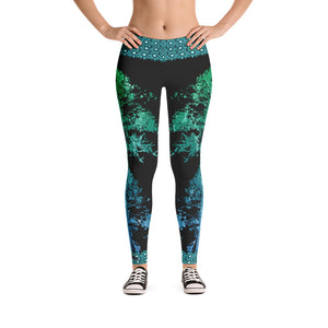 Emerald Tree Spirit Leggings - Totally F*ing Brutal