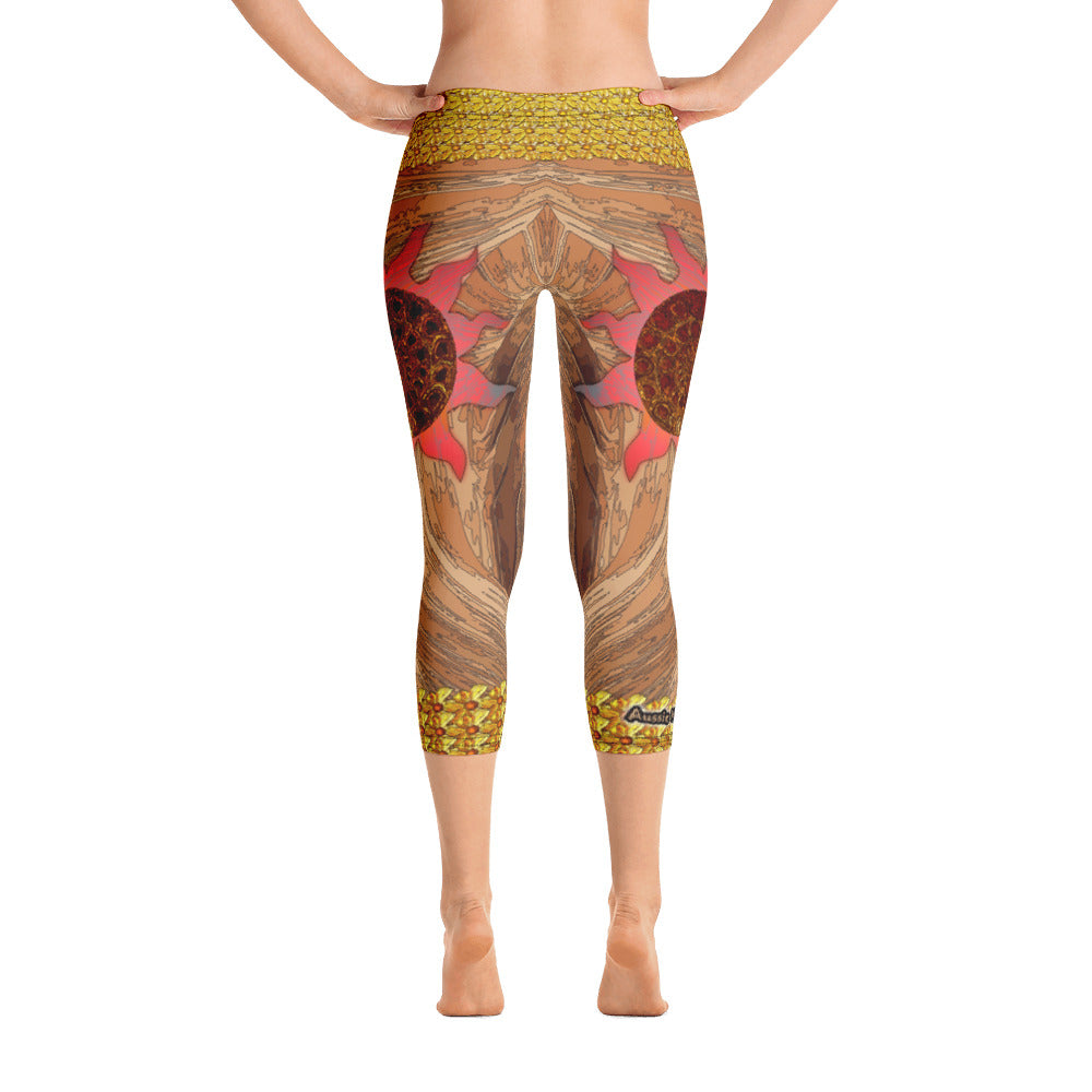 Sun Nautilus - Capri Leggings - Totally F*ing Brutal