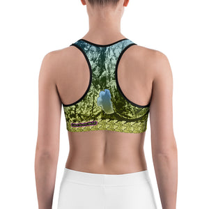 Ancient Green - Tahoe Sugar Skull Sports bra - Totally F*ing Brutal