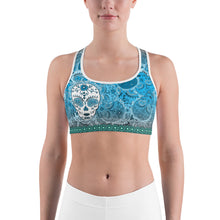 Deep Blue - Tahoe Sugar Skull Sports bra - Totally F*ing Brutal