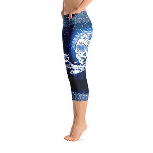 Mountain Moon - Tahoe Sugar Skull Capri Leggings - Totally F*ing Brutal
