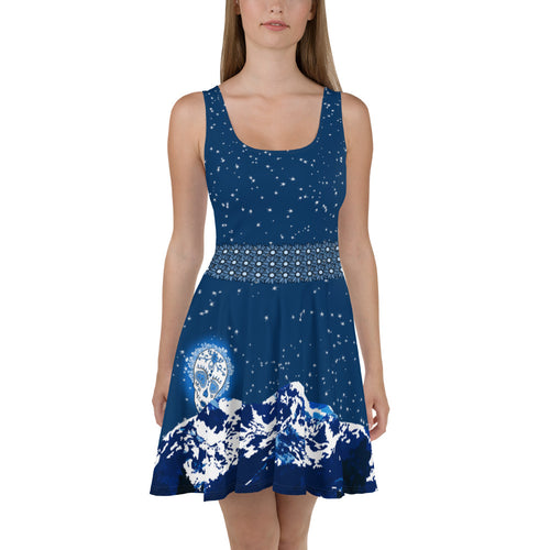 Mountain Moon - Tahoe Sugar Skull Skater Dress - Totally F*ing Brutal
