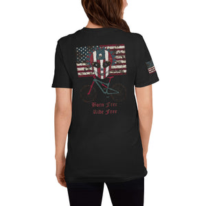 Born Free Bike Free Sugar Skull T-shirt - Totally F*ing Brutal