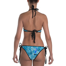 Deep Blue or Emerald - Tahoe Sugar Skull reversible Bikini - Totally F*ing Brutal