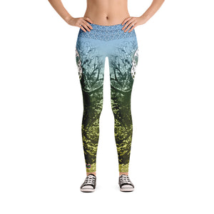 Ancient Green - Tahoe Sugar Skull Leggings - Totally F*ing Brutal