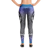 Azure Snakeskin Leggings - Totally F*ing Brutal