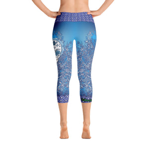 Winter Bones - Tahoe Sugar Skull Capri Leggings - Totally F*ing Brutal