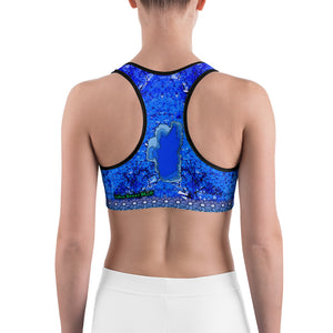 Winter Chill Aspens - Tahoe Sugar Skull Sports bra - Totally F*ing Brutal