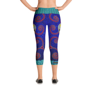 Nightshade Outback Sugar Skull -  Capri Leggings - Totally F*ing Brutal