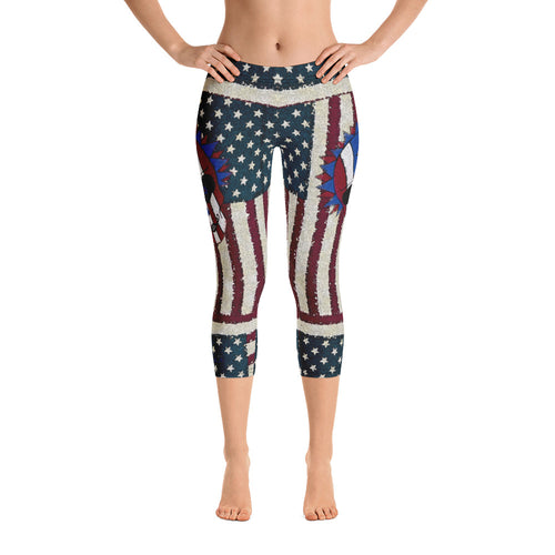 Freedom - Tahoe Sugar Skull Capri Leggings - Totally F*ing Brutal