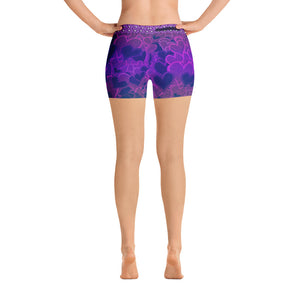 Lavender Love Heart Shorts - Totally F*ing Brutal