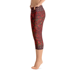 Red Hot Chili Capri Leggings - Totally F*ing Brutal