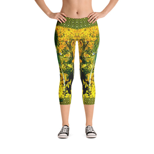 Aspens - Tahoe Sugar Skull Capri Leggings - Totally F*ing Brutal