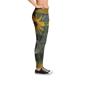 Golden Flower Leggings - Totally F*ing Brutal