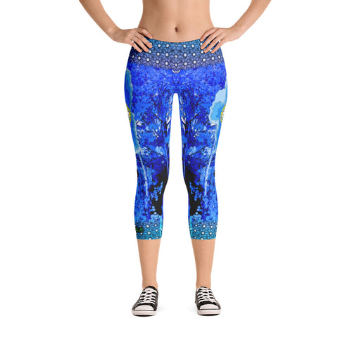 Winter Chill Aspens - Tahoe Sugar Skull Capri Leggings - Totally F*ing Brutal