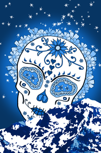 Mountain Moon - Tahoe Sugar Skull Athletic T-shirt - Totally F*ing Brutal