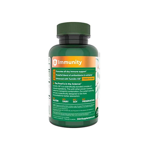 24hr Supplement for Immunity Support with Turmeric, Zinc, and More, for Men and Women - AHW