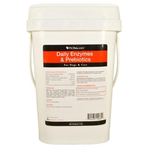 PSCPets Daily Enzymes and Prebiotics - Powder for Dogs and Cats - 5 lb bucket