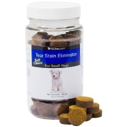 PSCPets Tear Stain Eliminator - Soft Chews for Small Dogs - 120 gm