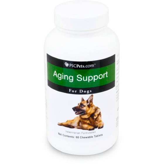 PSCPets Aging Support for Senior Dogs - Chewable Tablets - 60 count
