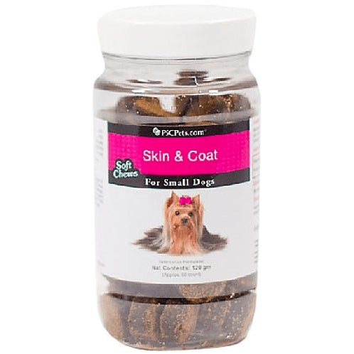 PSCPets Skin and Coat Soft Chews for Dogs  Small Dogs 120 gm bottle
