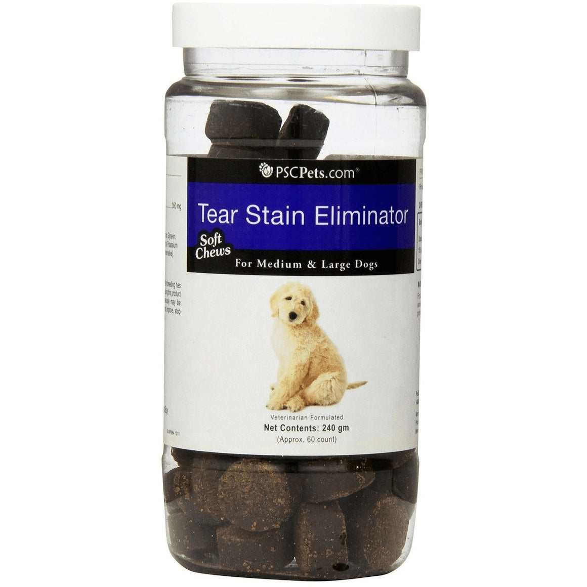 PSCPets Tear Stain Eliminator - Soft Chews for Medium and Large Dogs - 240 gm