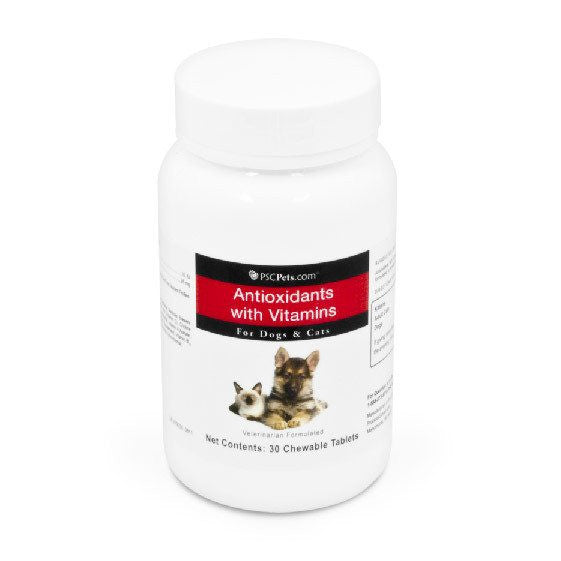 PSCPets Antioxidants with Vitamins For Dogs & Cats - 30 tablets