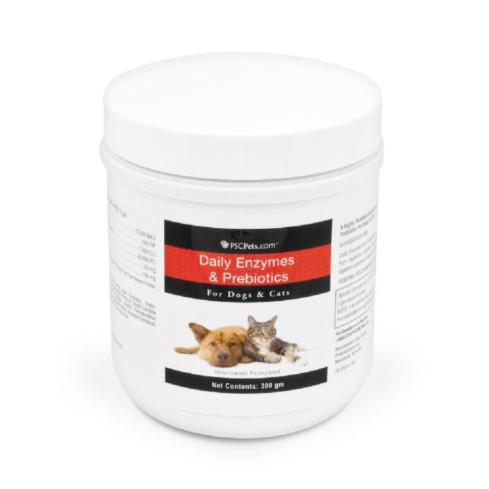 PSCPets Daily Enzymes and Prebiotics - Powder for Dogs and Cats - 300 gm bottle