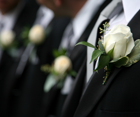 Groomsmen Suits Lined Up