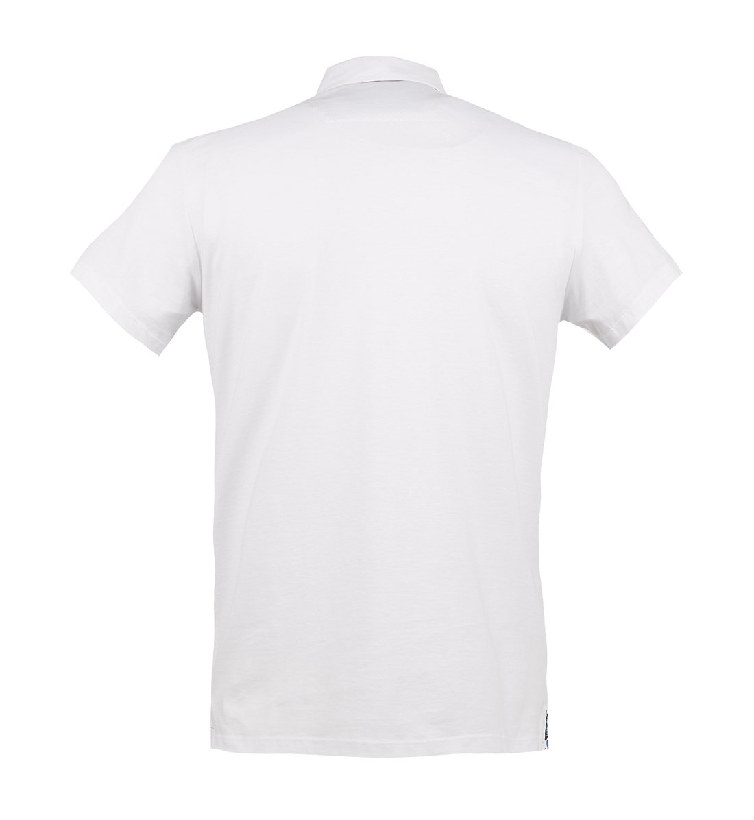 Guide Butterfly Trim Short Sleeve Polo Shirt White - Leonard Silver